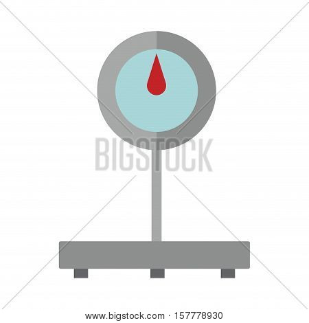 scales for weighing heavy with base vector illustration
