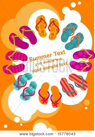 flip-flops on the summer poster