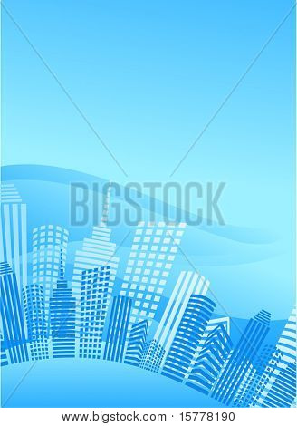 background with a blue city