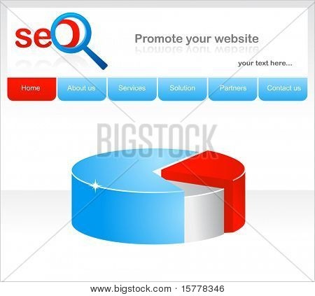 design of a concept for  website and symbol, vector image
