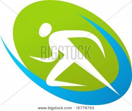 Abstract outline of a runner
