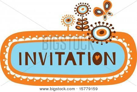 cute invitation template with childish doodles