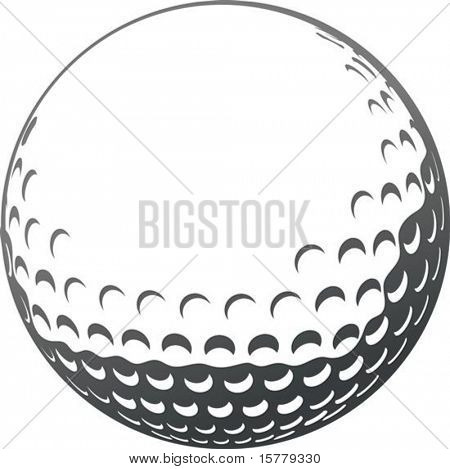 Vektor Golf Ball close-up