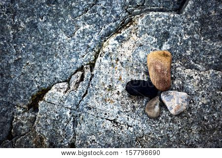 abstract background or texture four round stones
