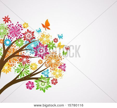 flower tree, background