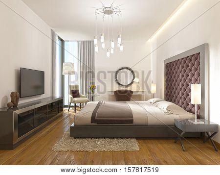 A Luxury Hotel Room In Art Deco.
