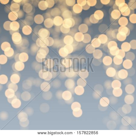 Festive gray and golden luminous background. Vector illustration.