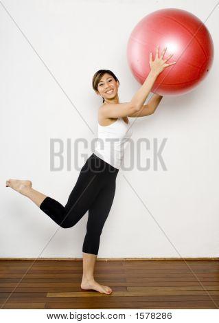 Lifting Fitness Ball
