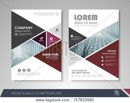 Modern Purple Brochure Design, Brochure Template, Brochures