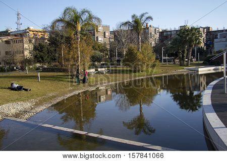 Cagliari: city landscape of the Parco della Musica - Sardinia