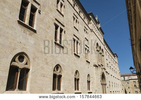 Tarragona (Catalunya Spain): exterior of gothic buildings near the medieval cathedral