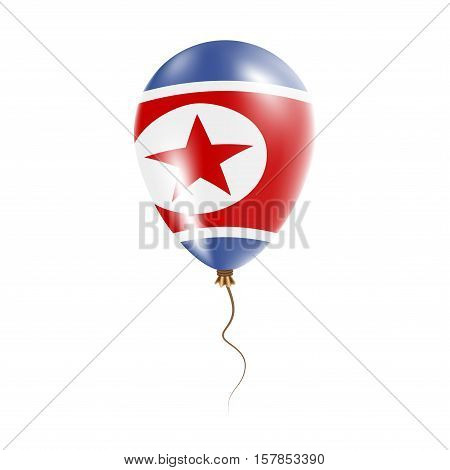 Korea, Democratic People's Republic Of Balloon With Flag. Bright Air Ballon In The Country National