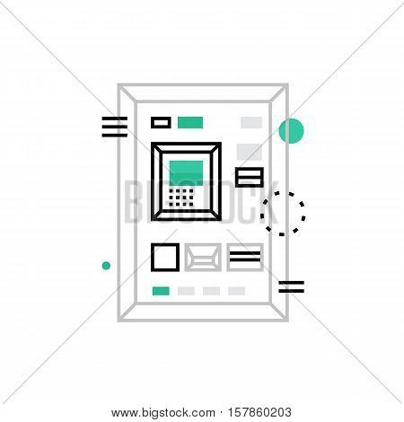 Cash Machine Monoflat Icon.