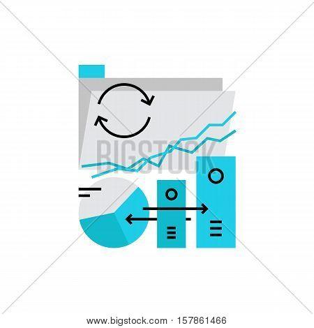 Data Transfer Monoflat Icon.