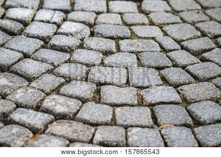 Stone paving texture. Abstract structured background. Path.