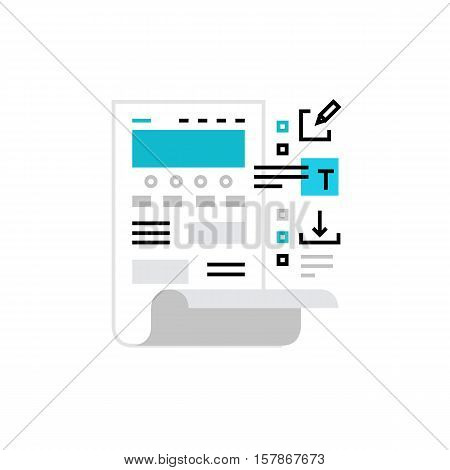 Webpage Edit Monoflat Icon.