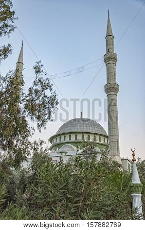 The Fatith Mosque situated in the Turkish town of Side.