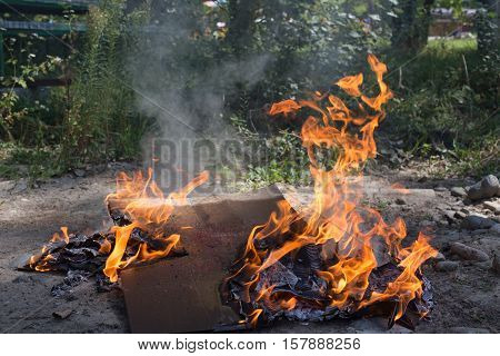 Illegal Burning Of Waste.