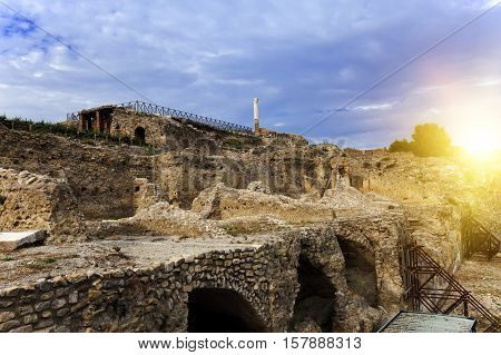 Italy. Ruins of Pompey in a sunny day