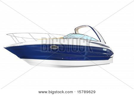 new yacht isolated on white