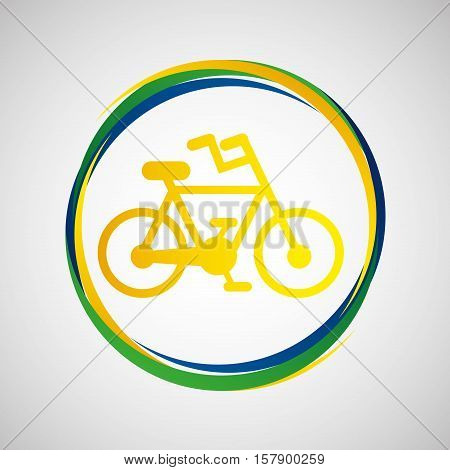 bike cycling sport badge icon vector illustration eps 10