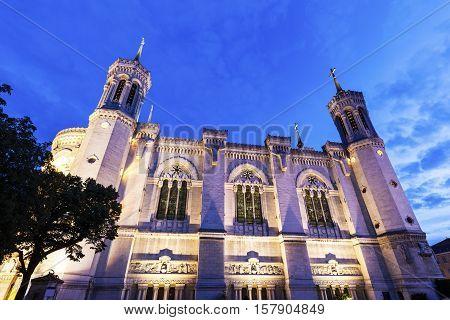 Notre-Dame de la Garde Basilica in Marseille. Marseille Provence-Alpes-Cote d'Azur France.