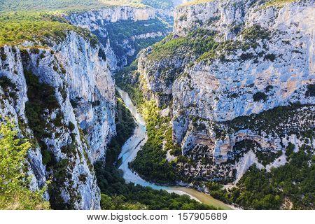 Verdon Gorge in France. Alpes de-Haute-Provence France.