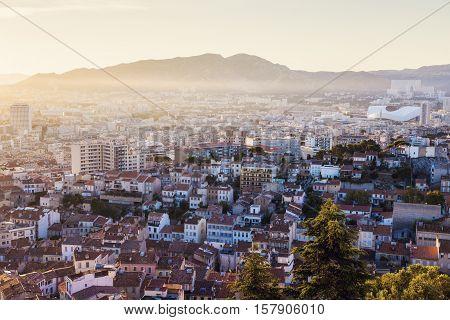 Architecture of Marseille. Marseille Provence-Alpes-Cote d'Azur France.