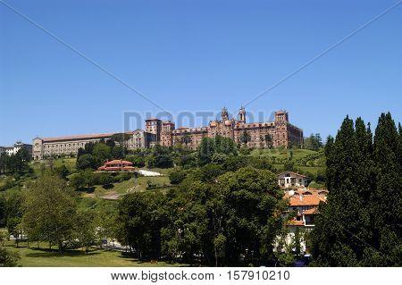 View og the Universidad Pontificia en Comillas Cantabria Spain