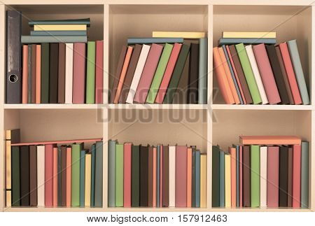 Full Bookcase library. Toned Image