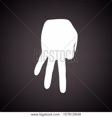 Baseball Catcher Gesture Icon