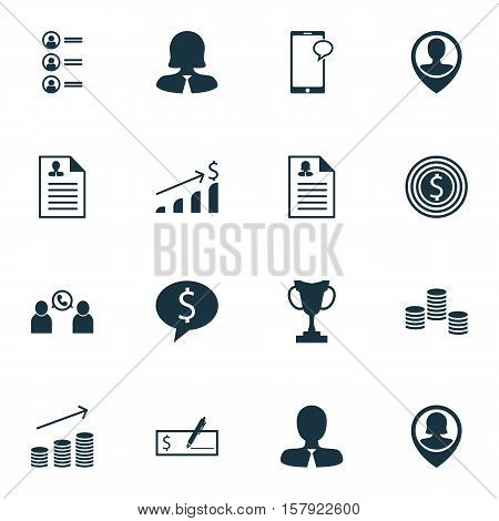 Set Of Hr Icons On Bank Payment, Female Application And Job Applicants Topics. Editable Vector Illus