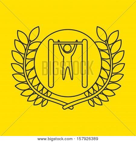 uneven bar sportsman flag background design vector illustration eps 10
