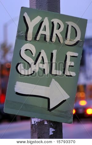 Handmade Yard Sale Sign
