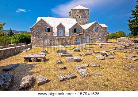 Ethno village of Skrip stone landmarks Island of Brac Croatia