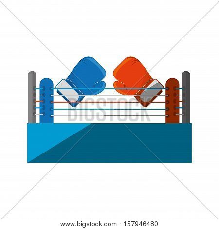 Boxing quadrilateral isolated icon vector illustration design