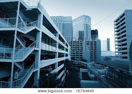 Modern urban architecture in Las Vegas, Nevada, USA.