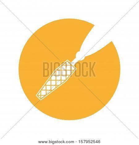 zipper open isolated icon vector illustration design