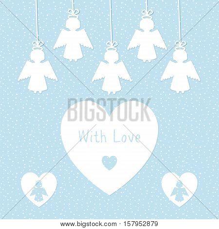 Angel Greeting Card Template
