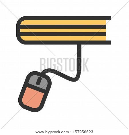 Online, e-learning, education icon vector image. Can also be used for E Learning. Suitable for mobile apps, web apps and print media.