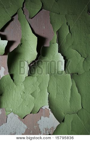 Old paint peeling from wall texture background