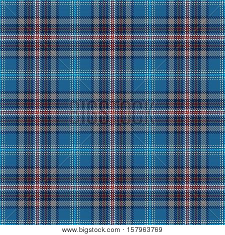 Blue Tartan Seamless Pattern. Trendy illustration for wallpapers. Tartan plaid inspired background. Suits for decorative paper fashion design and house interior design as well as for hand crafts