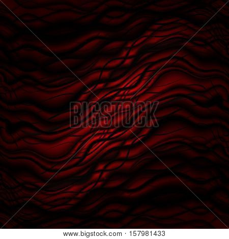 Striped wave red with soft lighting