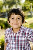 pic of little boy  - Cute little boy playing outside - JPG