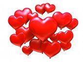 Постер, плакат: Шары в форме сердца