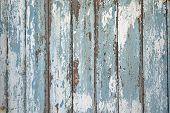 Old Peeled Blue Shabby Wood Wall Horizontal Vintage Background Texture poster