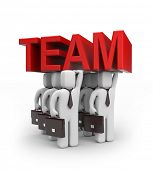 foto of team building  - Strong team - JPG
