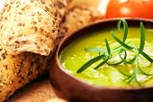 picture of vegetable soup  - cream of broccoli soup - JPG