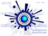 picture of binary code  - Futuristic globe with binary codes  - JPG