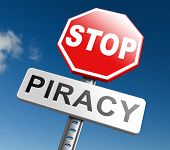 Постер, плакат: piracy stop illegal download of movies and music and illegal copying copyright and intellectual prop